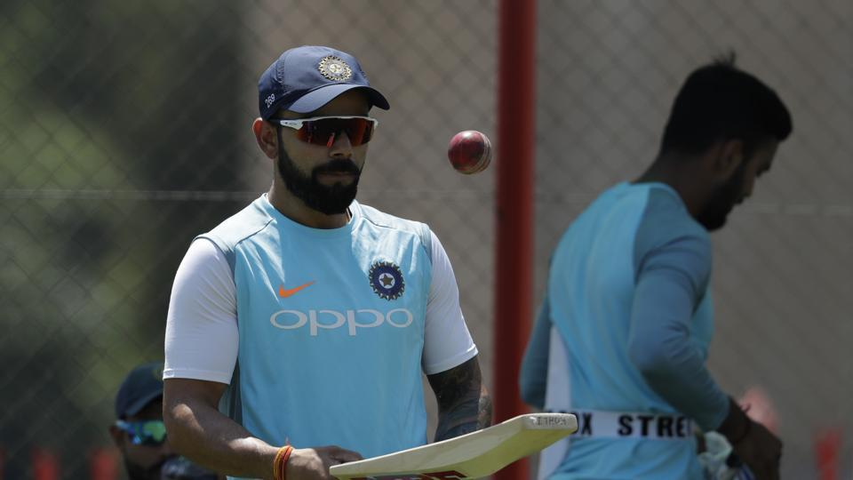 Virat Kohli prepares for their training at Centurion Park in Pretoria, South Africa,  ahead of their second cricket test match against South Africa. (AP)