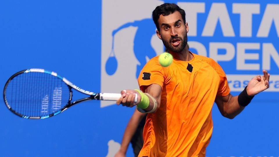 Yuki Bhambri beat Spaniard Carlos Taberner 6-0, 6-2 in the final qualifying round of the Australian Open in Melbourne.