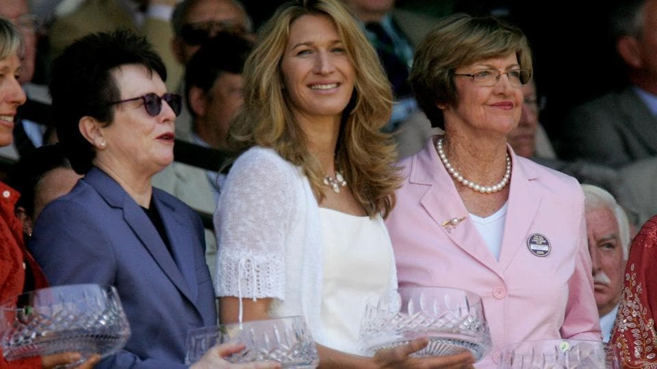 (L-R) Billie Jean King, Steffi Graf and Margaret Court during a ceremony at the Wimbledon (file pic, for representative purpose).