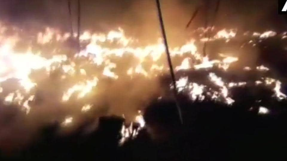 The reason for the fire is yet to be known.