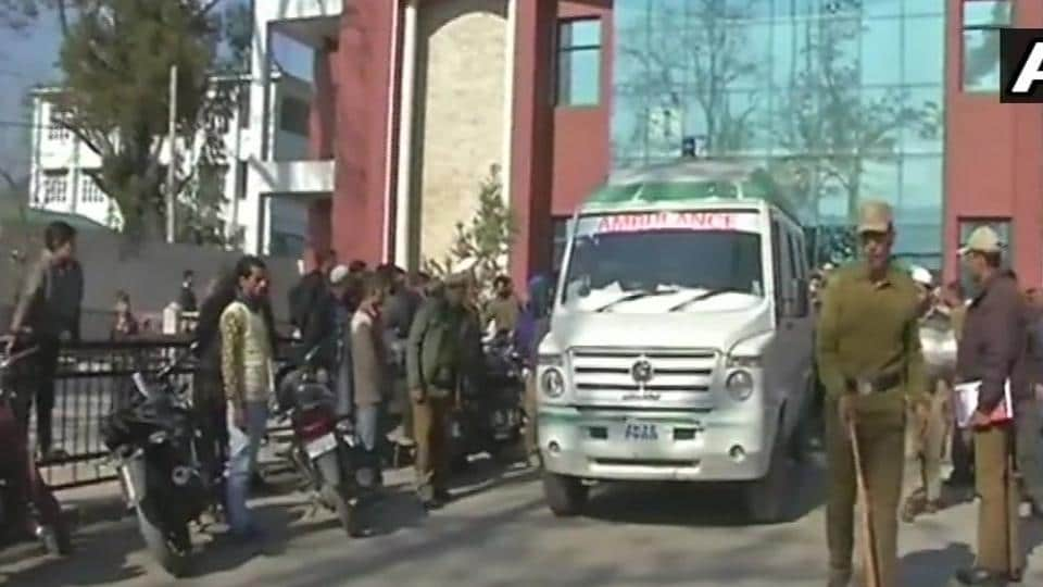 The injured boy is being taken to a hospital in Jammu.
