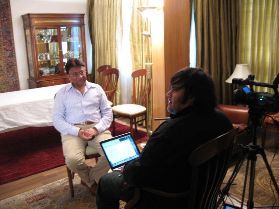 Filmmaker Mohammed Ali Naqvi with Pervez Musharraf.