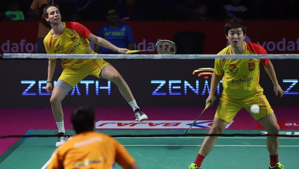 Bengaluru Blasters (in yellow) set up a Premier Badminton League final clash vs the Hyderabad Hunters with a hard-earned win over the Ahmedabad Smash Masters in the second semi-final.