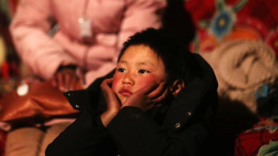 Wang Fuman, also known as 'Frost Boy', in Ludian in China's southwestern Yunnan province.