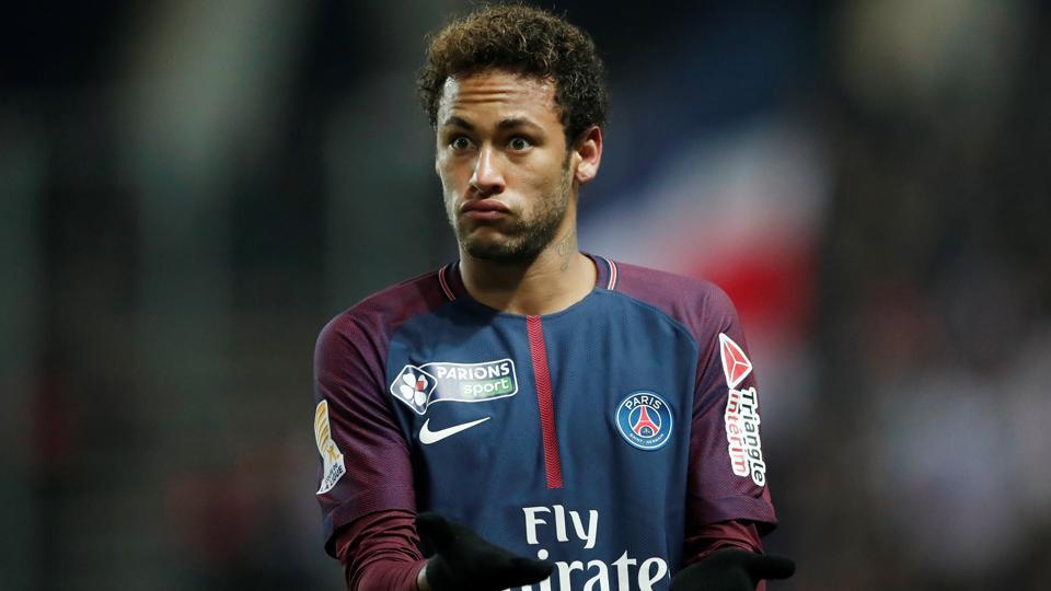 Neymar has been playing at Ligue 1 club Paris Saint-Germain since 2017.