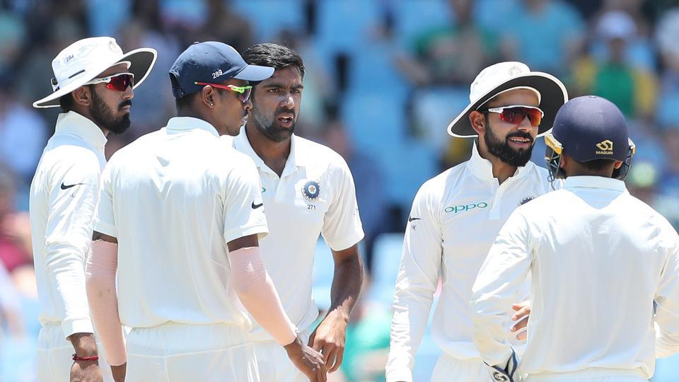 Ravichandran Ashwin struck as Dean Elgar was removed for 31 as Murali Vijay hung on to a sharp catch at silly point.  (BCCI)