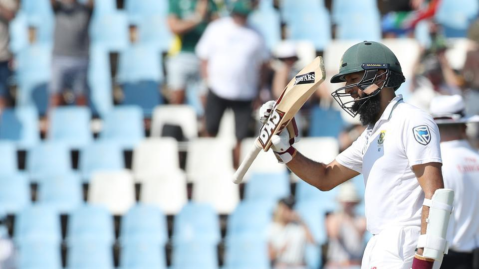 Hashim Amla notched up his 36th fifty as he looked to come back to form against India. (BCCI)