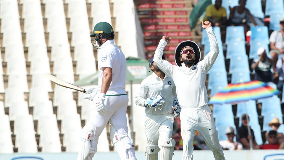 Ishant Sharma got the massive wicket of AB de Villiers for 20 as the batsman inside-edged a short ball back on to the stumps.  (BCCI)
