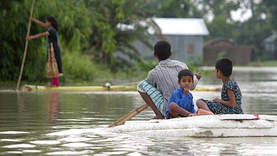 File photo of  floods in Assam.  A new study on flood risk paints an alarming picture for India.