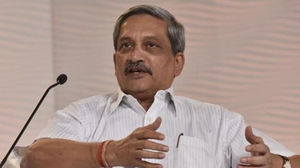 Goa chief minister Manohar Parrikar.