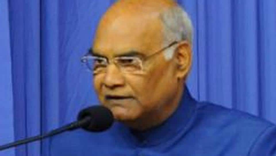President of India Ram Nath Kovind addressing a select gathering after released the holy book Bhagwad Geeta Hindi version.