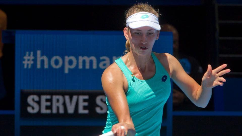 Belgian tennis player Elise Mertens won the Hobart International on Saturday.