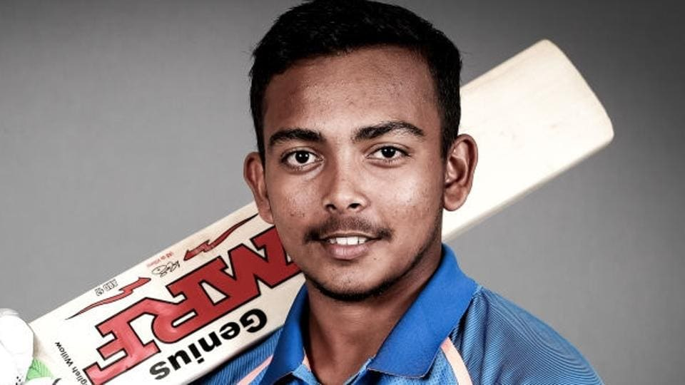 Prithvi Shaw scored 94 for the India U-19 cricket team in their ICCU-19 Cricket World Cup match against Australia.