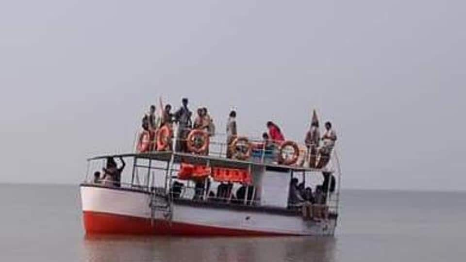 The picture of the boat released by the Coast Guard.