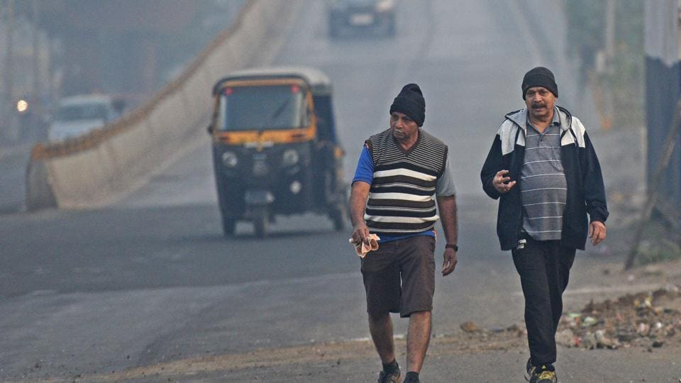 The increase in temperatures has brought down pollution levels.