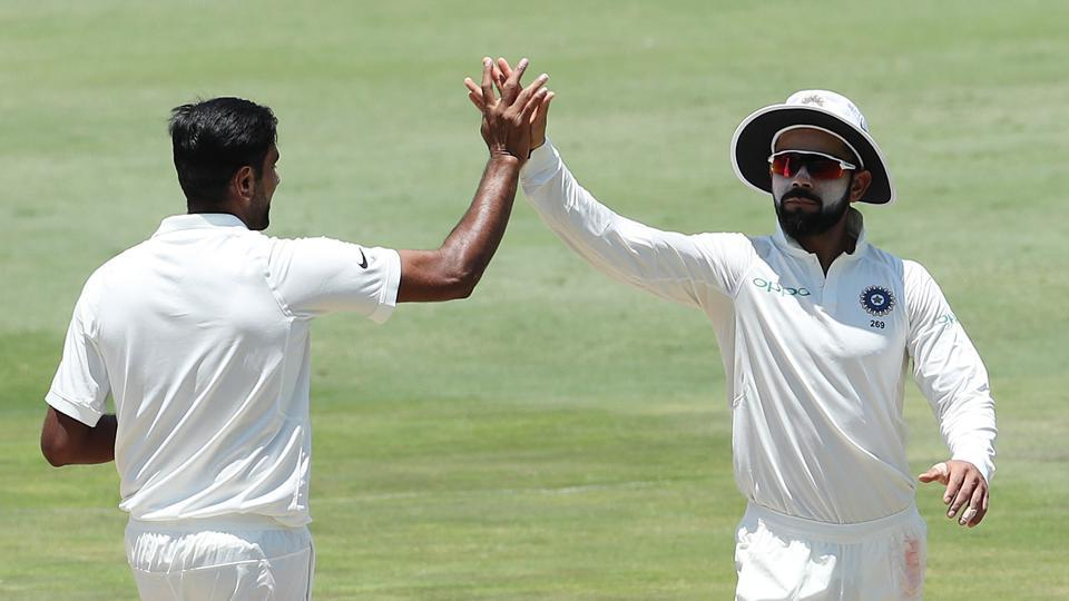 R Ashwin then wrapped up the South African innings for 335 by getting rid of Morne Morkel. The Indian finished with a four-wicket haul.  (BCCI )