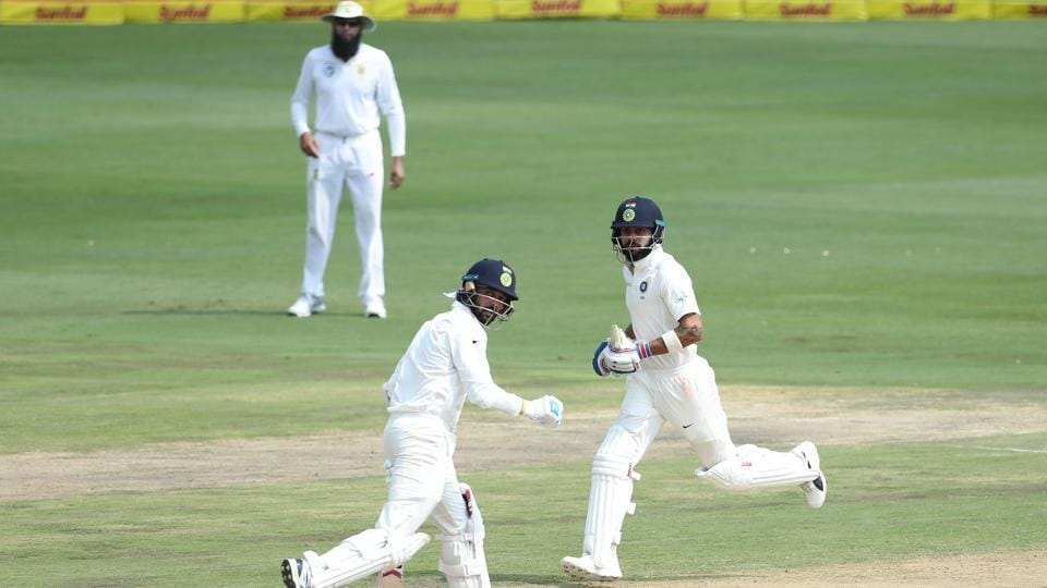 Vijay and Kohli put on a 79-run stand before Maharaj removed the India opener for 46.  (BCCI )