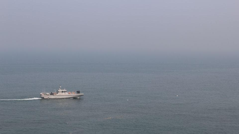 Indian Navy units engaged in search and rescue operation.