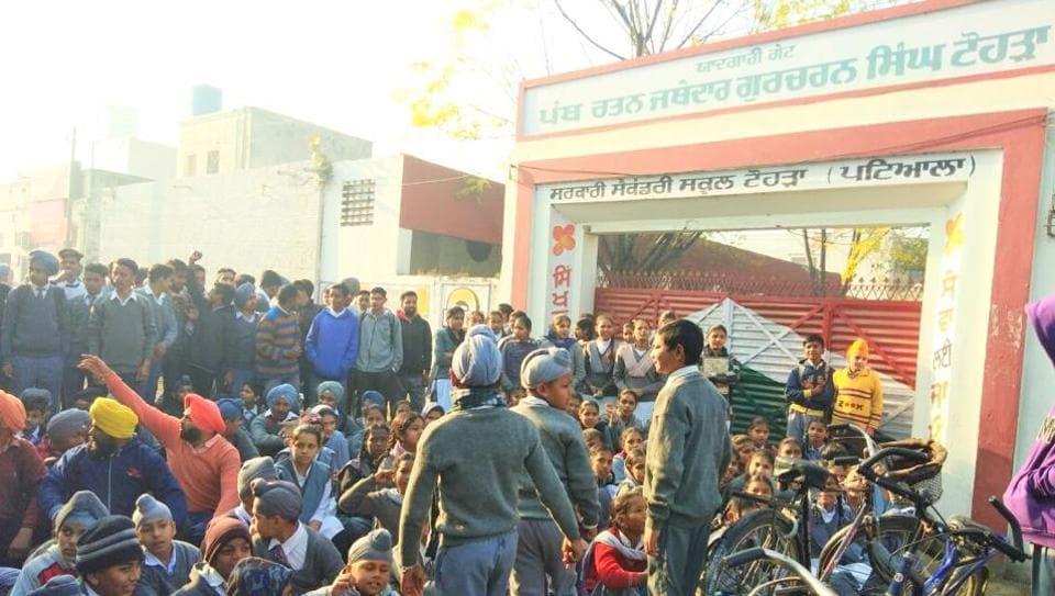 Caste bias at Nabha school: Students, parents lock school