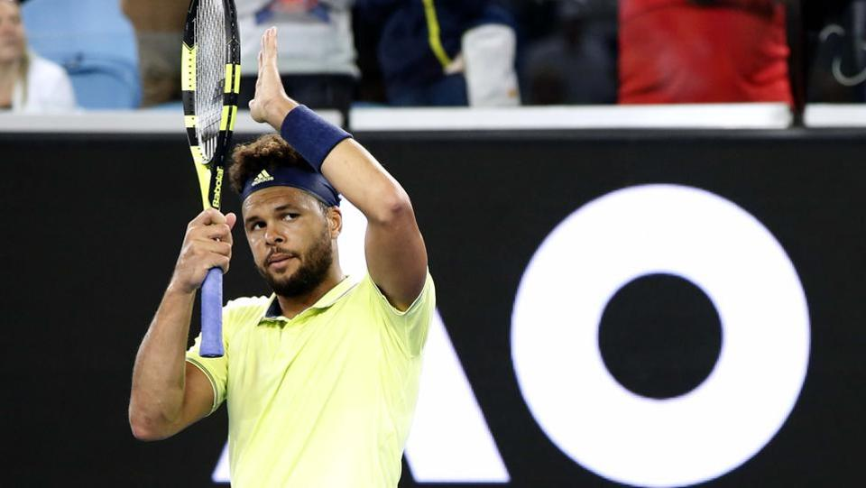 In a late-night encounter, Jo Wilfried Tsonga defeated Kevin King of the US. (REUTERS)