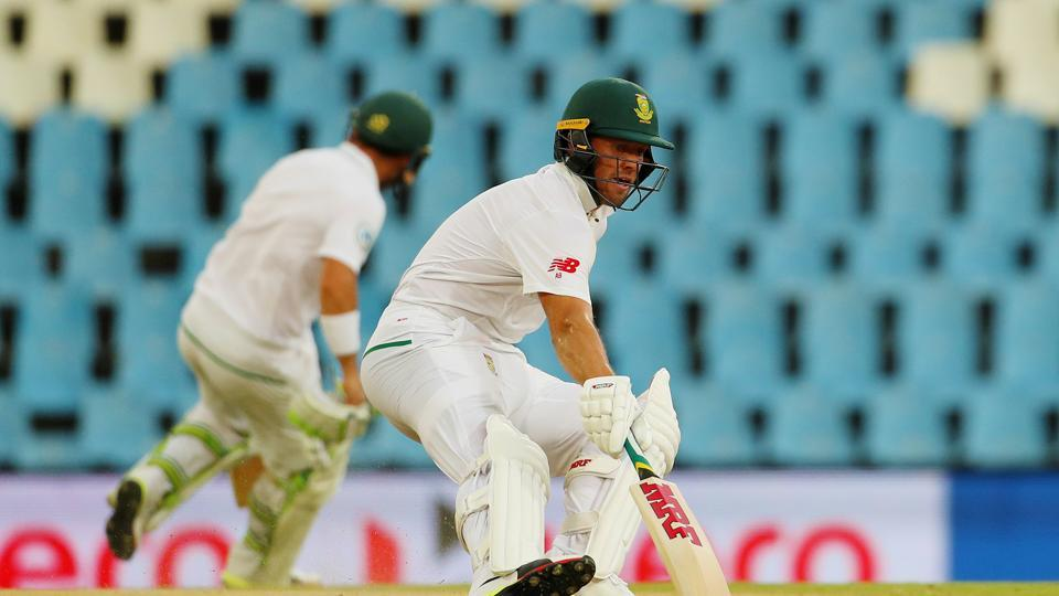 AB de Villiers and Elgar's fifty-plus stand boosted South Africa as the lead went past 100. (BCCI)