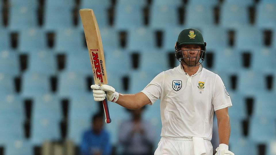 AB de Villiers notched up his 42nd fifty as South Africa made good progress, with India struggling for grip with the wet ball. (BCCI)