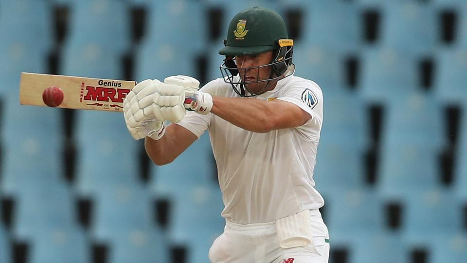 AB de Villiers in action on the third day of the second Test match between South Africa and India in Centurion.