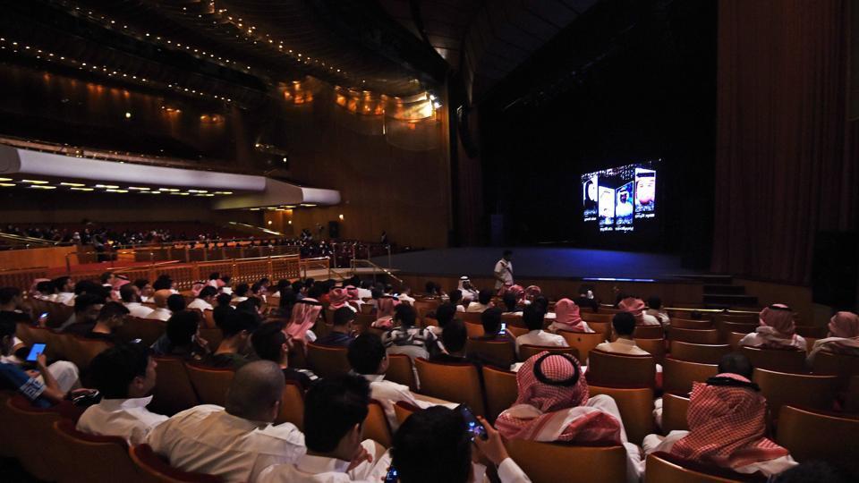 Saudis attending the