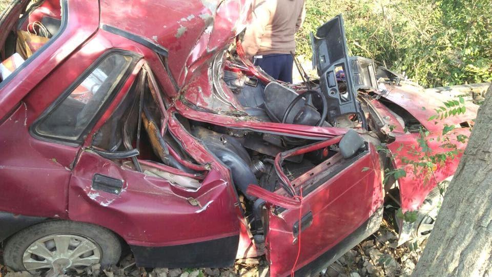 four of a family killed,Hoshiarpur accident,four killed