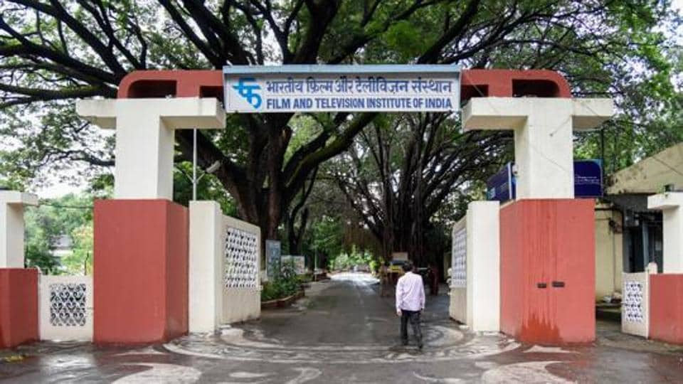 Students of the Film and Television Institute of India (FTII) staged a protest in opposition of the hike in application fee which was announced recently by the institute, on Friday.