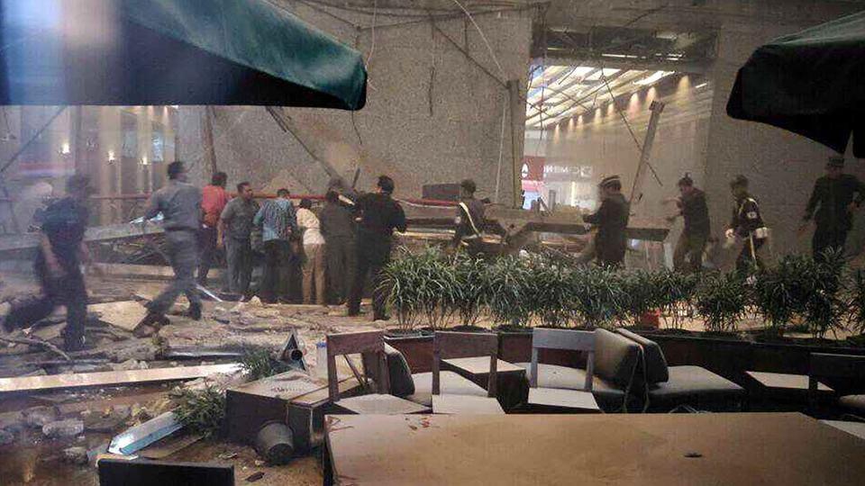 Jakarta Floor Of Indonesia Stock Exchange Collapses Over