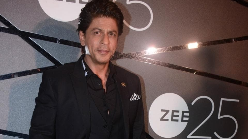 Shah Rukh Khan during a party organised to celebrate Zee's silver jubilee in Mumbai on Jan 13, 2018. (Photo: IANS)
