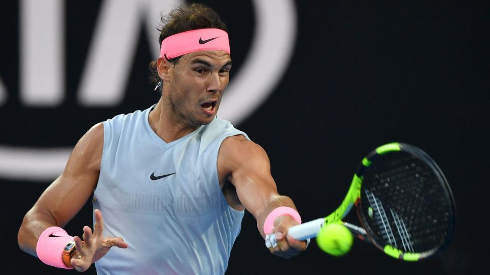 Men's top seed Rafael Nadal defeated Dominican Republic's Victor Estrella Burgos 6-1, 6-1, 6-1 to reach the second round of the Australian Open on Monday. (AFP)