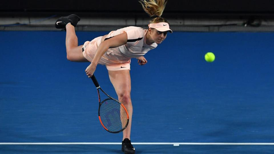 Ukraine's Elina Svitolina defeated Serbia's Ivana Jorovic 6-3, 6-2 to reach the next round. (AFP)