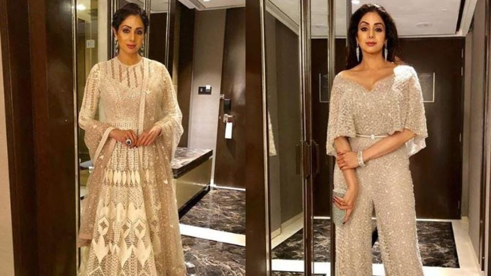 If you are going to pull off such statement-making dresses, make sure you have ample confidence like Sridevi.