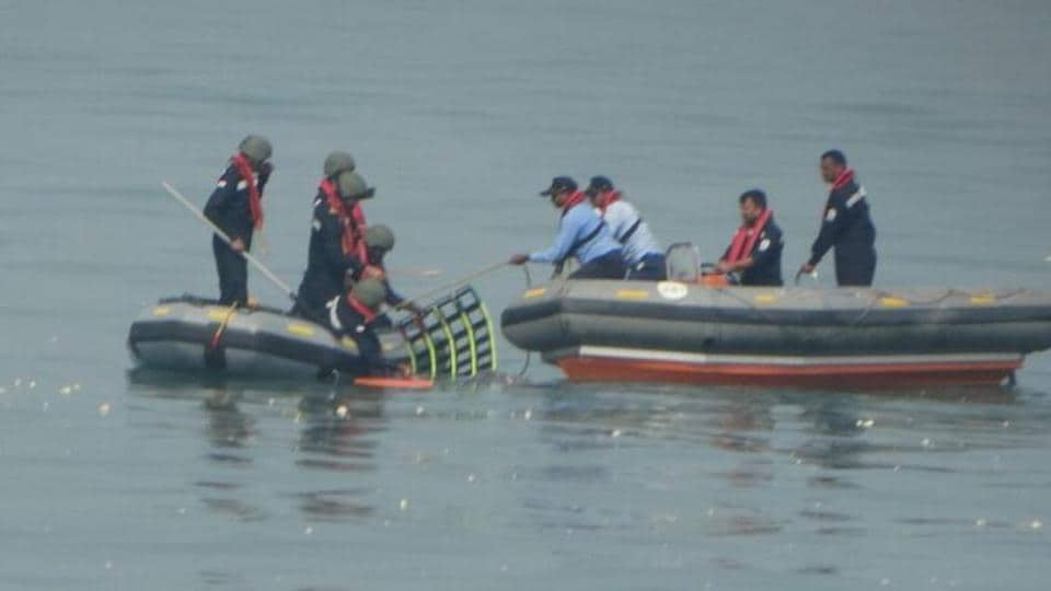 The search operations on after the crash.