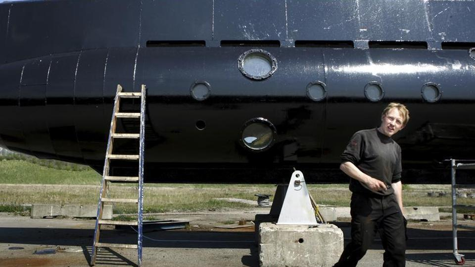 This April 2008 photo shows Peter Madsen with his submarine. Police in Denmark said he has admitted dismembering a Swedish journalist who disappeared from his submarine.
