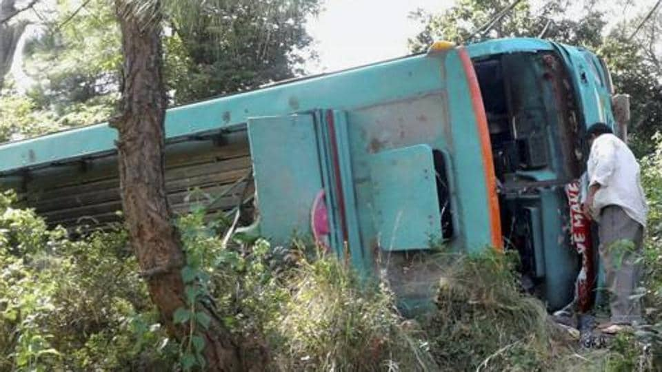 The driver of the vehicle died on the spot and 13 others sustained injuries as the tractor overturned, according to the police.