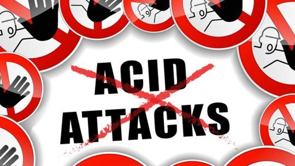 A 22-year-old woman in Odisha's Kalahandi district was attacked with acid by a man.