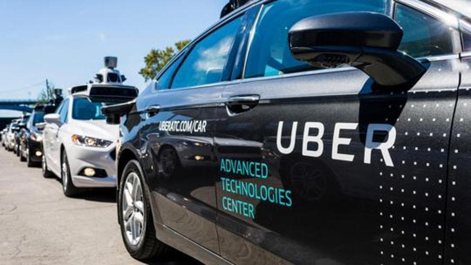 (FILES) This file photo taken on September 13, 2016 shows pilot models of the Uber self-driving car at the Uber Advanced Technologies Center in Pittsburgh, Pennsylvania.