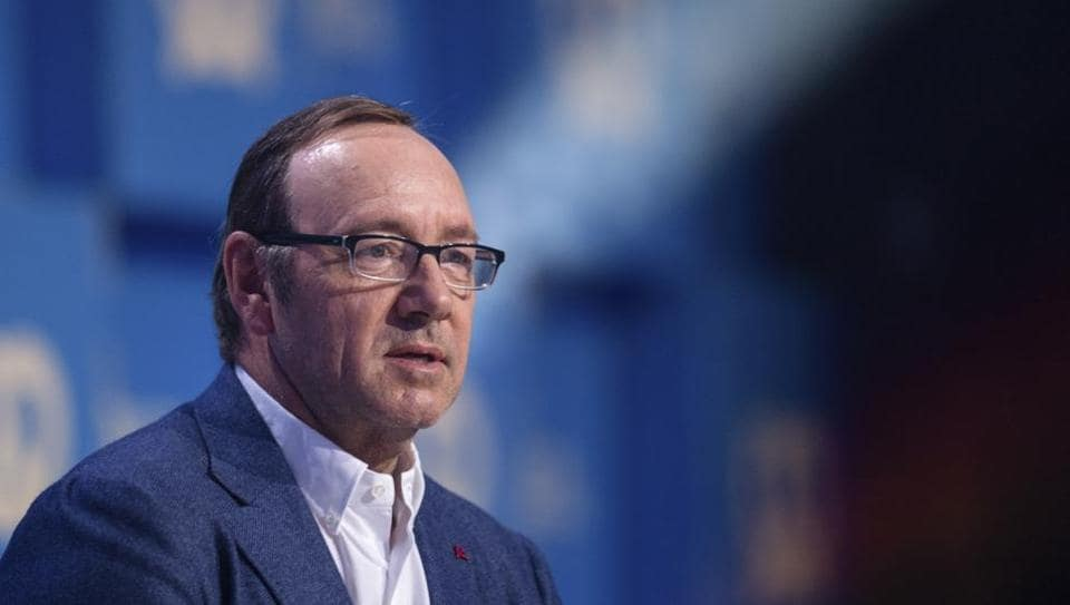 US actor Kevin Spacey speaking at the Bits and Pretzels founders' and investors' festival in Munich, Germany, Sunday, Sept. 24, 2017.