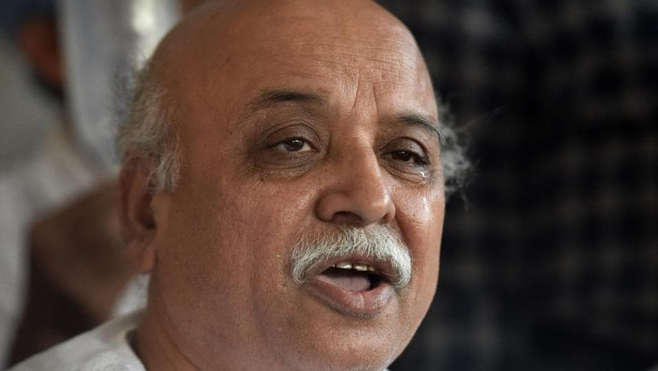 Vishwa Hindu Parishad international working president Pravin Togadia during a press conference at Chandramani Hospital in Ahmedabad on Tuesday.