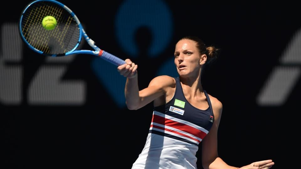 Czech Republic's Karolina Pliskova earned a straight sets victory against Paraguay's Veronica Cepede Royg during their women's singles first round match. (AFP)