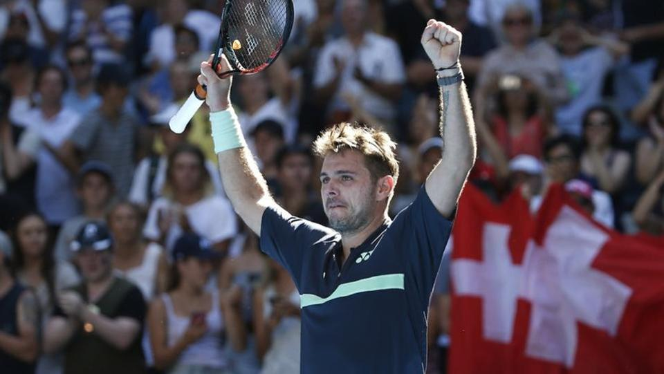 Stan Wawrinka of Switzerland had to fight it out in four sets before winning against Ricardas Berankis of Lithuania. (REUTERS)