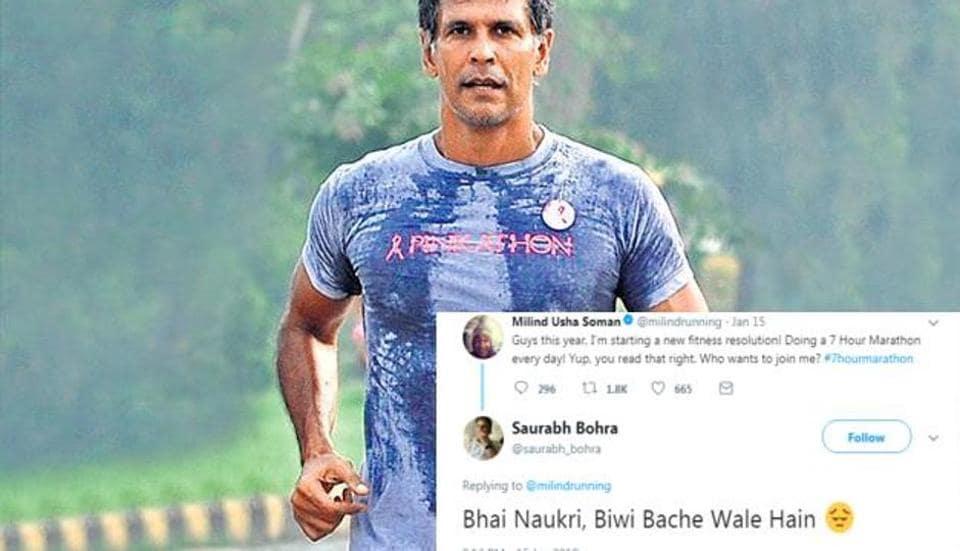 Milind Soman,seven-hour marathon,Ultraman triathlon
