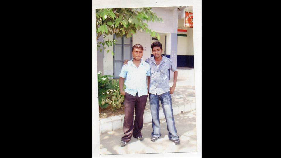Rohith Vemula (R) and Sheikh Riyaz during their BSc days in Guntur, Andhra Pradesh. On January 17, 2016, Vemula, a PhD student at the University of Hyderabad and author of the book 'Caste is Not a Rumour' took his own life following a controversy in 2015 that led to his expulsion from the hostel along with 5 other scholars. His death triggered countrywide protests and a debate over the alleged harassment of the Dalit community in the world of academia. (Courtesy Sudipto Mandal)
