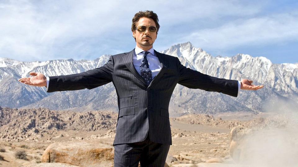 Robert Downey Jr as Tony Stark in 2008's Iron Man.