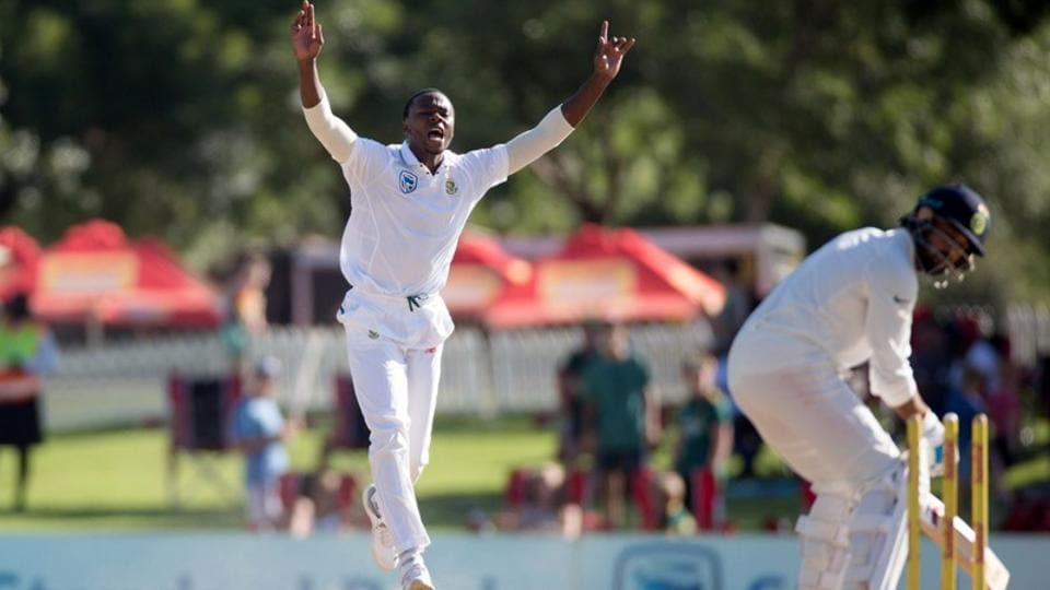 South Africa's Kagiso Rabada celebrates taking the wicket of India's Murali Vijay. Virat Kohli's Indian cricket team came under criticism from Bishan Singh Bedi after their 135-run loss to South Africa in Centurion.
