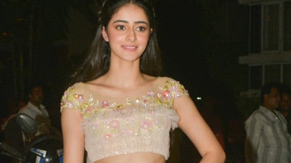 Ananya Pandey, daughter of Chunky Pandey during a Diwali party hosted by actor Anil Kapoor in Mumbai.