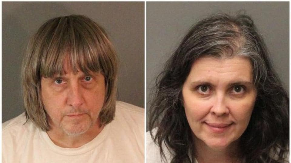 A combination photo of David Allen Turpin (L) and Louise Ann Turpin as they appear in booking photos provided by the Riverside County Sheriff's Department in Riverside County, California, US, January 15, 2018.